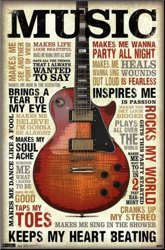 BeKingArt Guitar Music Make Life Wonderful Make Me Wanna Party All Night