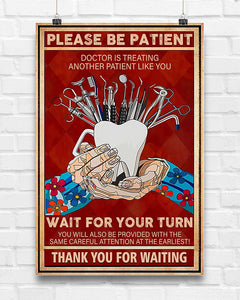 BeKingArt Please Be Patient Doctors Is Treating