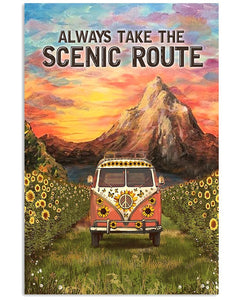 BeKingArt Camping Always Take The Scenic Route Matte Canvas