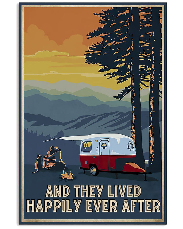 BeKingArt Camping And They Lived Happily Ever After Canvas