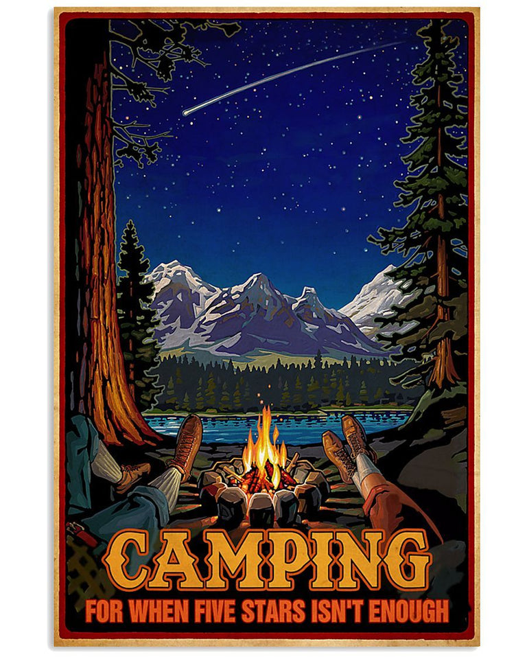 BeKingArt Camping For When Five Stars Isn't Enough Matte Canvas