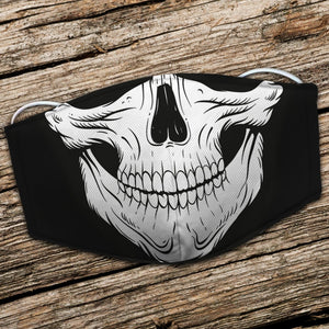 BeKingArt Biker Motorcycle Lover Cool Awesome Skull Smile