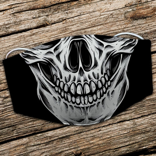 BeKingArt Biker Motorcycle Lover Cool Black Skull Smile