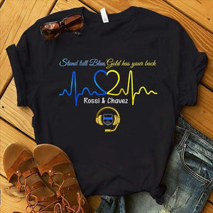 BeKingArt Police Personalized Dispatcher Stand Tall Blue Gold Has Your Back