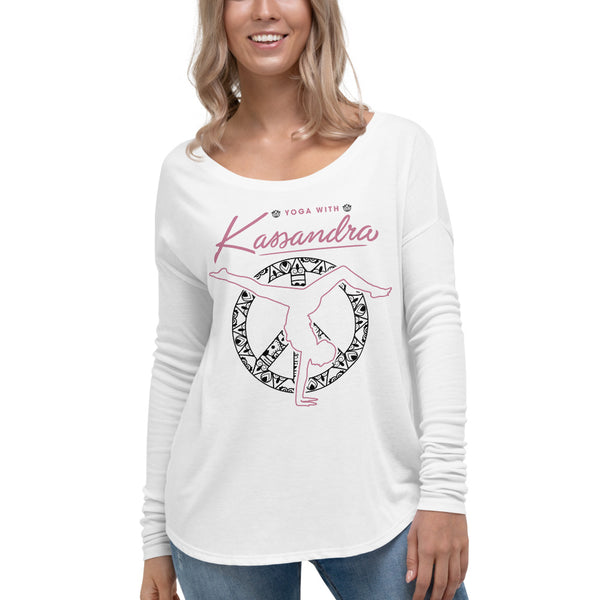 Yoga With Kassandra White Flowy Long Sleeve