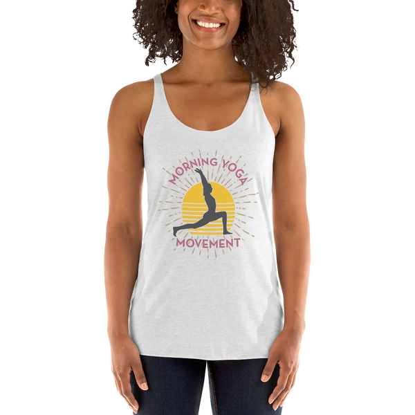 Morning Yoga White Tank