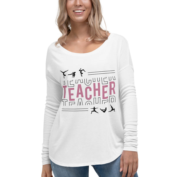 Teacher White Flowy Long Sleeve