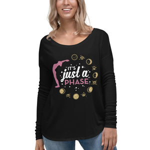 It's Just A Phase Black Flowy Long Sleeve