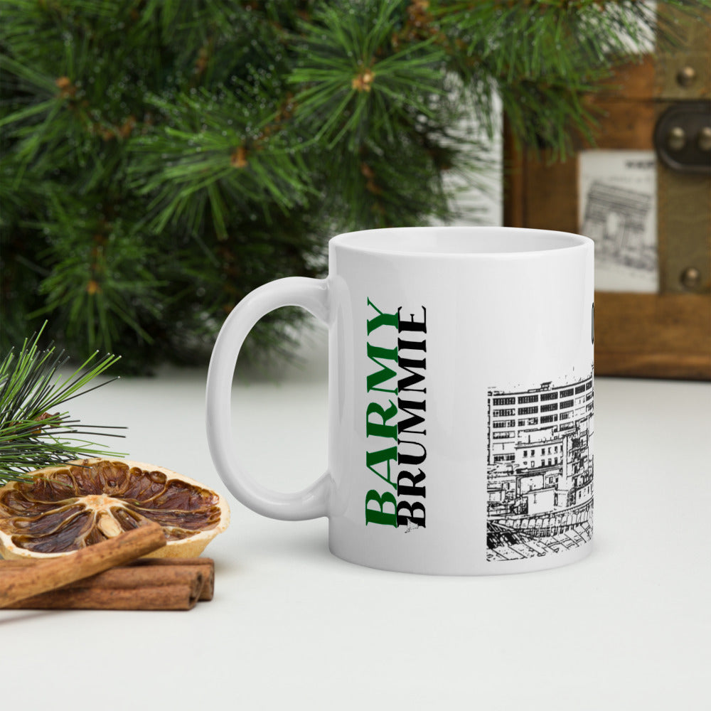 Barmy Brummie mug with Birmingham cityscape and 0121 Do One on