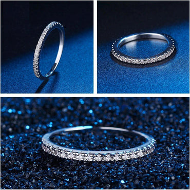 Classic Round Full Pave AAA Cubic Zircon Band Ring