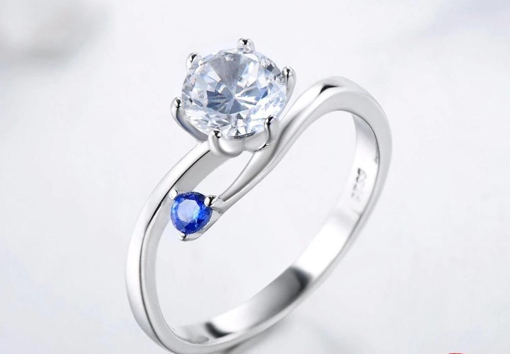 Cubic Zircon Silver Color Luxury Rings