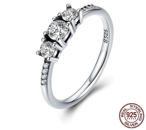 Fairytale Sparkling Clear CZ Finger Ring