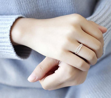Line Winding Shape Open Ring