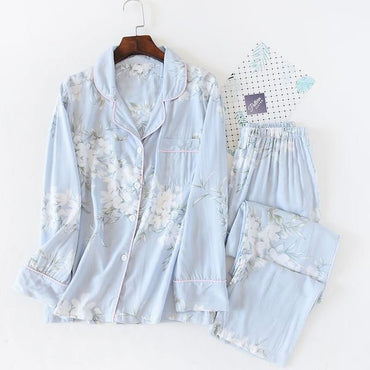 Fresh flower rayon summer pajamas sets