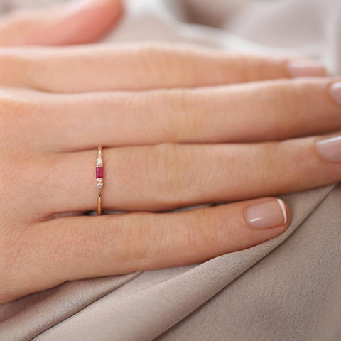 Simple Crystal Thin Ring