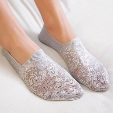 Fashion Style Lace Flower Short Invisible Ankle Socks