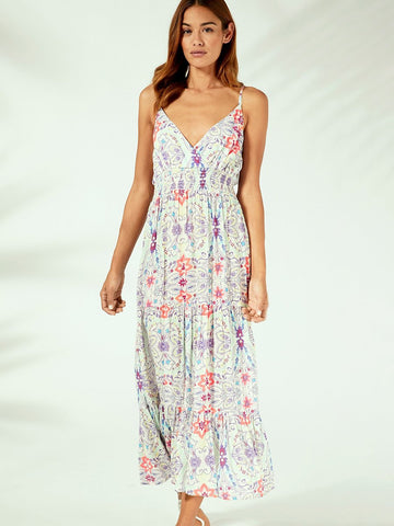 Floral Cotton Boho Chic Sleeveless Backless Sexy Strap Dress