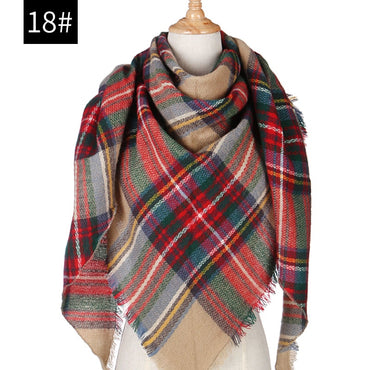 plaid cashmere scarves shawls and pashmina winter women scarf