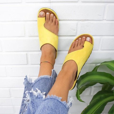 PU Leather Shoes Comfy Platform Flat Sole Sandals