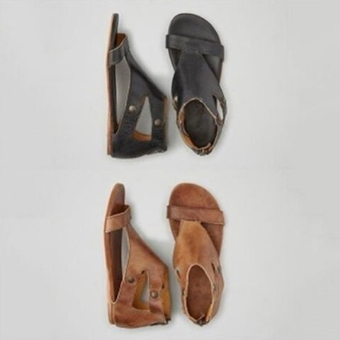 Soft Leather Gladiator Zip Sandal
