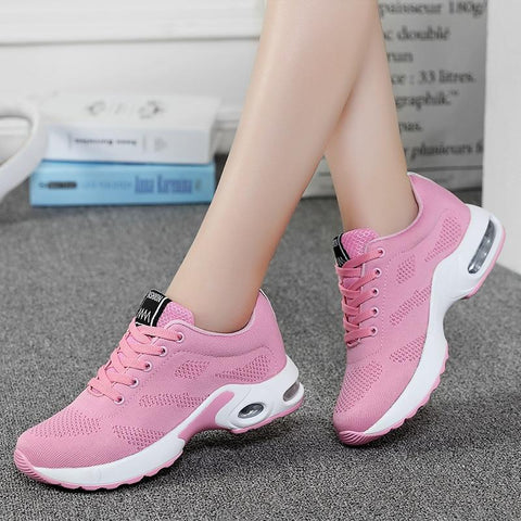 Casual Mesh Pink Flat Lightweight Soft Sneakers