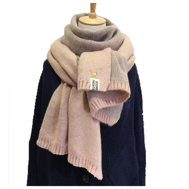 Wool Knitted Double face Winter Warm Soft Scarf