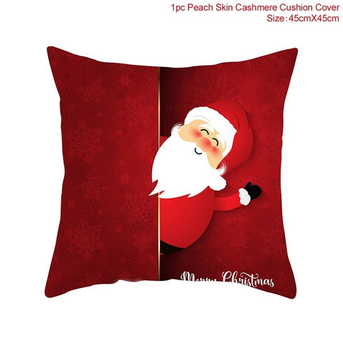 45x45cm Cotton Linen Merry Christmas Cover Cushion