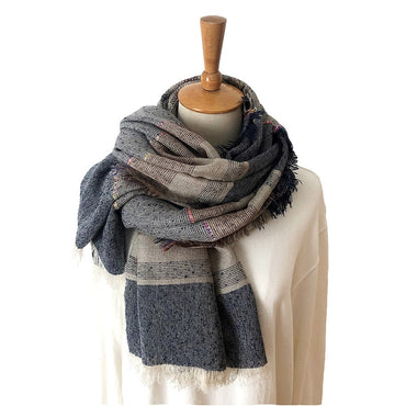 Unisex Style Winter Scarf Cotton And Linen Solider Color long scarf