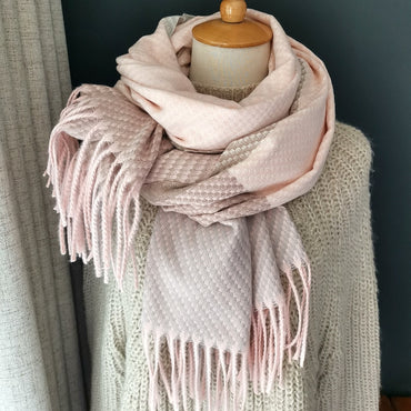 Knitting Cashmere Pashmina Ladies Scarf