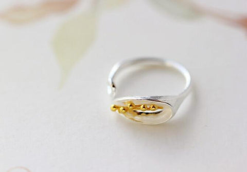 Fresh Morning Glory Flower Ring