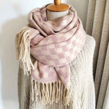 Warm Wool And Cashmere Pashmina Tassels Women Scarf