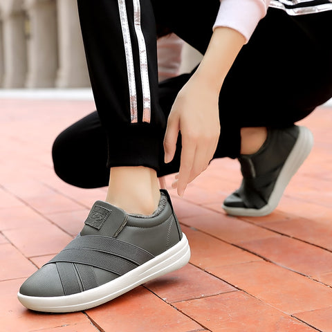 Women's Slip-on Loafers Warm Moccasins Flat Sneakers