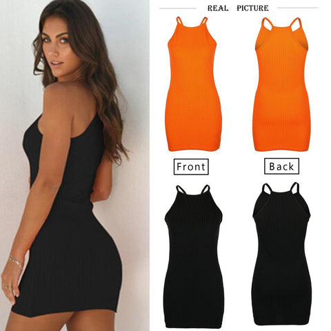 Sexy Summer Sleeveless Tank Slim Mini Short Knitted Bodycon SunDress
