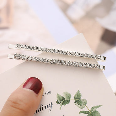 1Pc Shining X Hairpins Crystal Shiny Rhinestones Letters Hair Clips