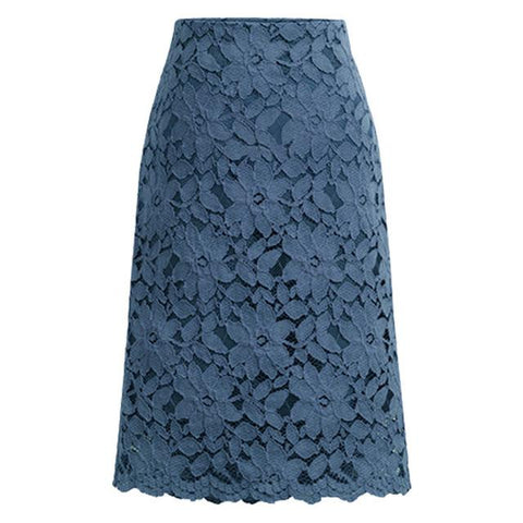 High Elastic High Waist Elegant Work Office Skirt