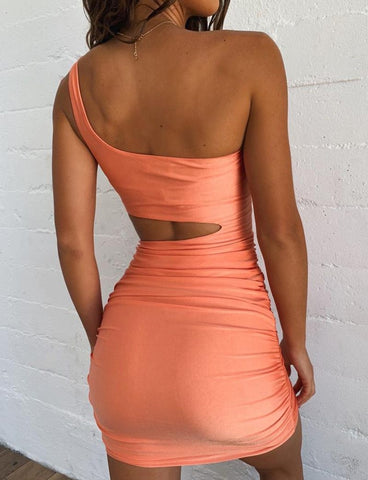 Mini Bodycon Summer Club Hollow Out Ruched Backless