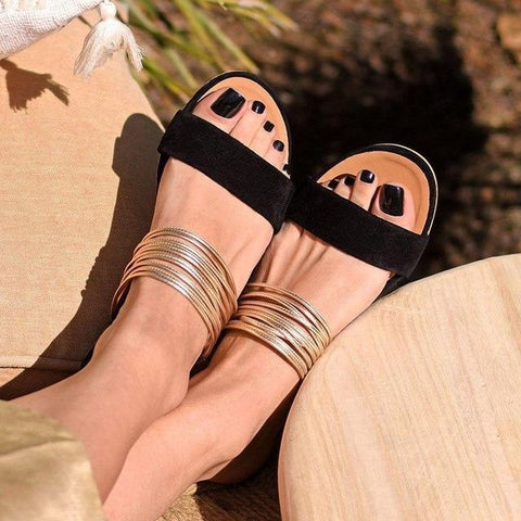 Rome Sandals Summer Hot Retro Wedges Gladiator Non-slip Slippers
