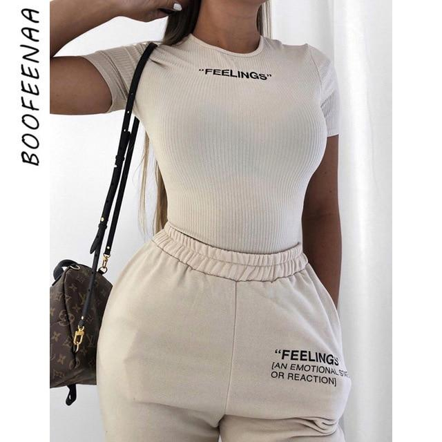 White Knit Embroidery Letter Short Sleeve Bodysuits