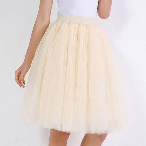 Party Train Puffy 5Layer 60CM Fashion Tulle Skirt