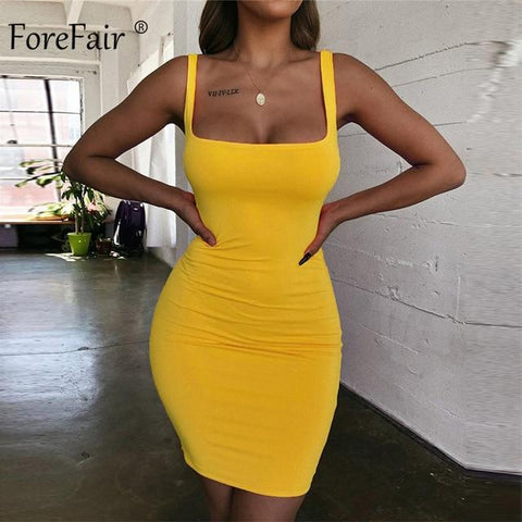 Solid Sexy Square Neck Casual Close Fitting Off Shoulder Dress