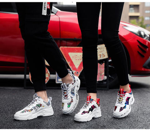 Sneakers Summer Casual Graffiti Flats Ladies Vulcanized Shoes