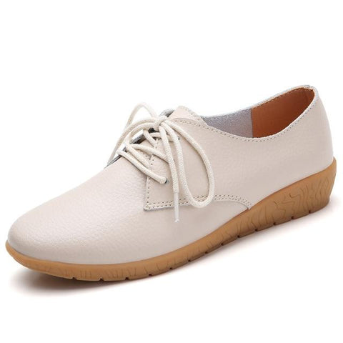 Oxford Shoes Ballerina Flats Genuine Leather Loafers