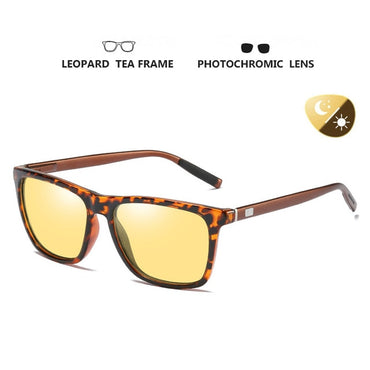 Square Brand Discoloration Sunglasses Polarized