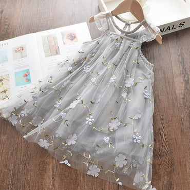 Girls Dresses Summer Kids Princess Dress Denim Casual