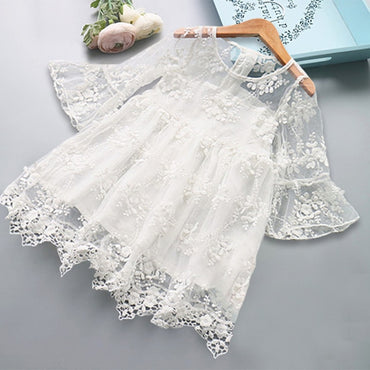 Formal Lace Wedding Dress Party Gown Dresses Girl Princess Dress