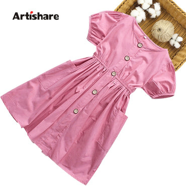 Kids Dresses Girls Casual Style Girls Party Dress