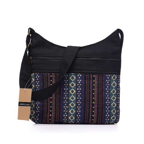 Bohemian Chic Hippie Folk Tribal Woven Crossbody Messenger Bag