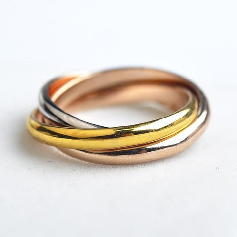 Simple 3 layers round Ring