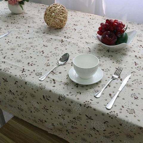 Country Style Flower Print Table Cloth