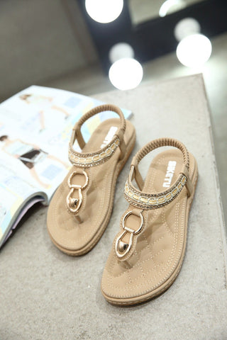 Sandals Bohemia Ethnic String Bead Beach Shoes